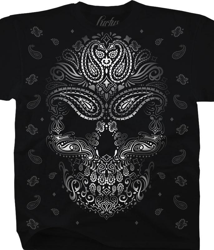 BANDANA SKULL BLACK T-SHIRT