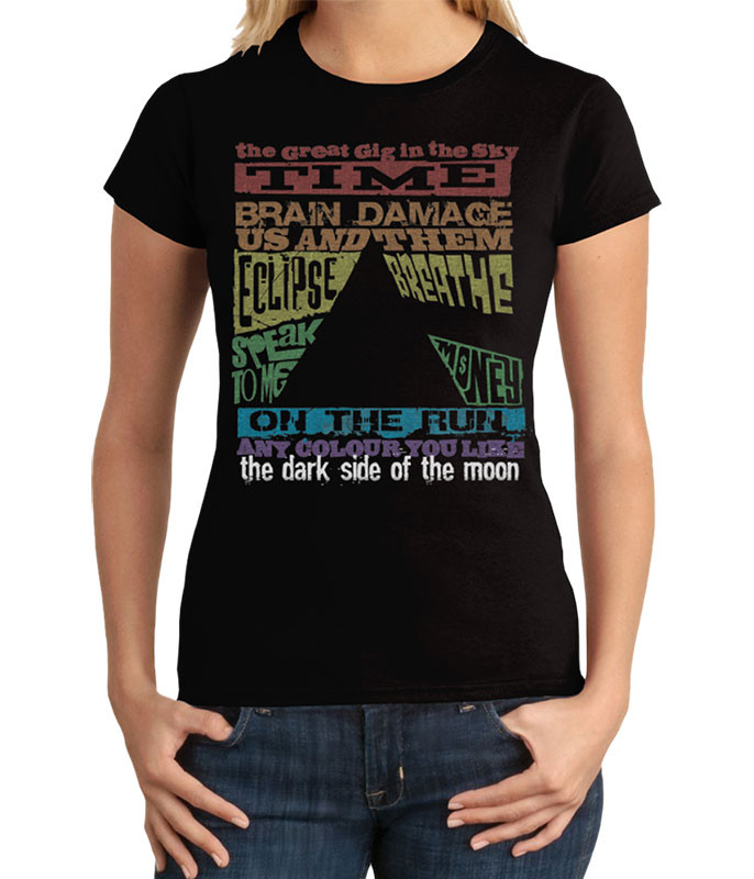 Dark Side Tracks Black Juniors Long Length T-Shirt
