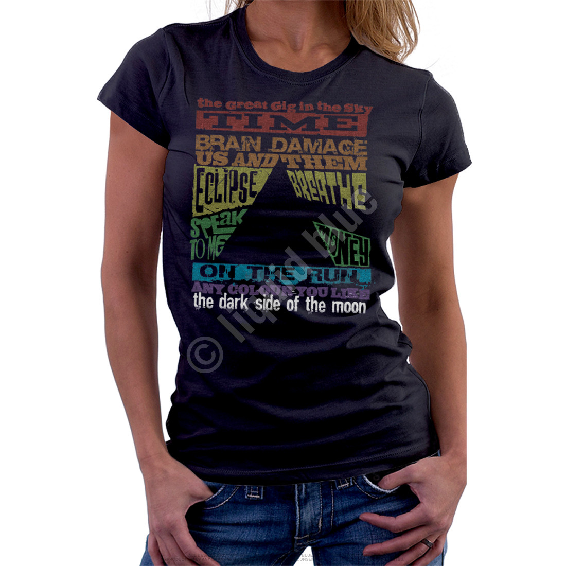 Dark Side Tracks Black Womens Long Length T-Shirt