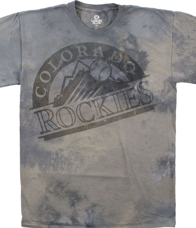 MLB Colorado Rockies Tonal Tie-Dye T-Shirt Tee Liquid Blue