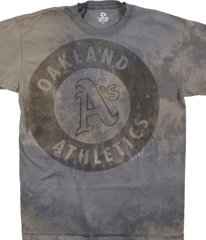 MLB Oakland Athletics Tonal Tie-Dye T-Shirt Tee Liquid Blue