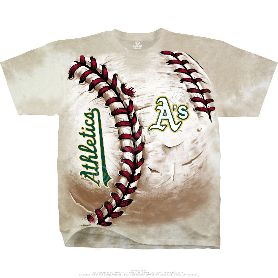 Oakland Athletics Hardball Tie-Dye T-Shirt