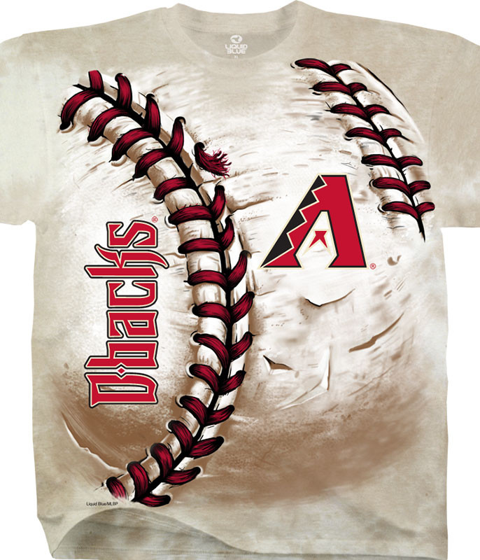 MLB Arizona Diamondbacks Hardball Tie-Dye T-Shirt Tee Liquid Blue