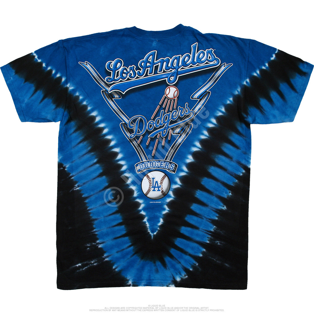 Los Angeles Dodgers V Tie-Dye T-Shirt