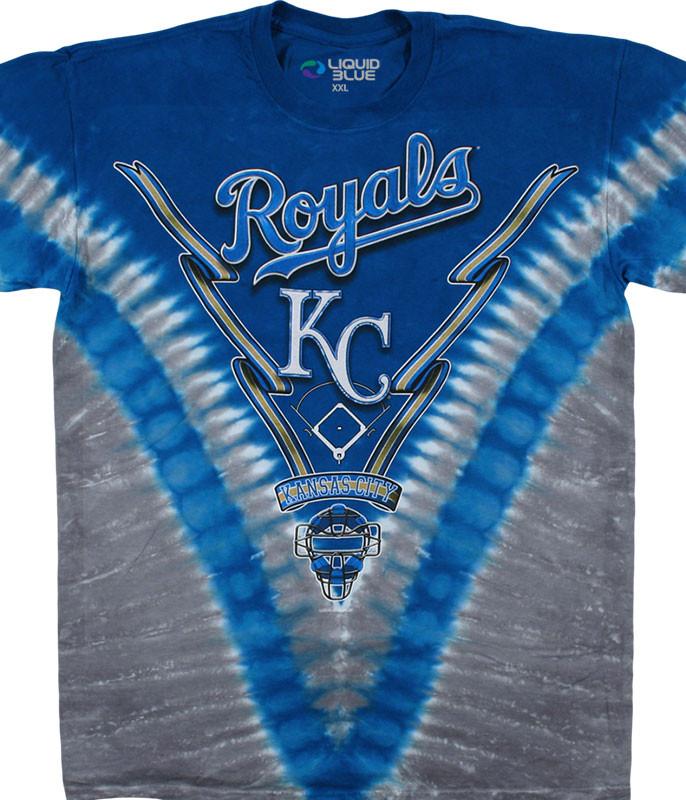 Kansas City Royals V Tie-Dye T-Shirt