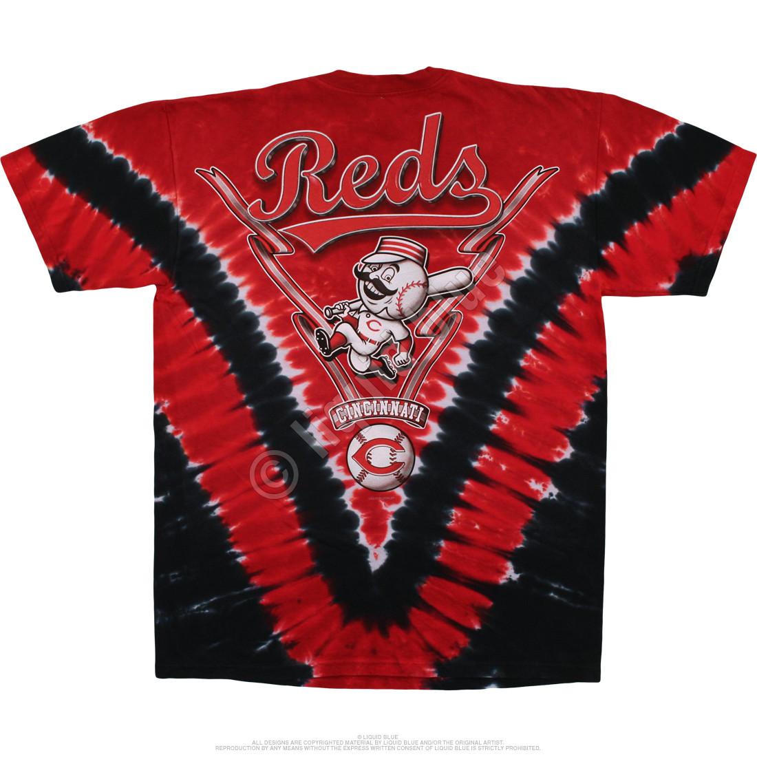 Cincinnati Reds V Tie-Dye T-Shirt