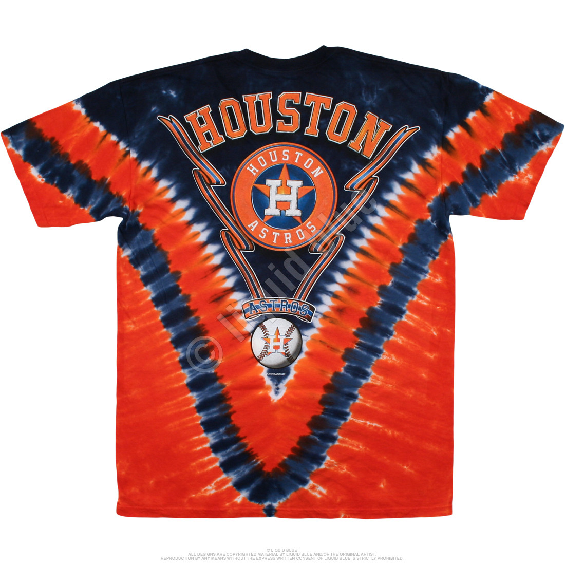 Houston Astros V Tie-Dye T-Shirt