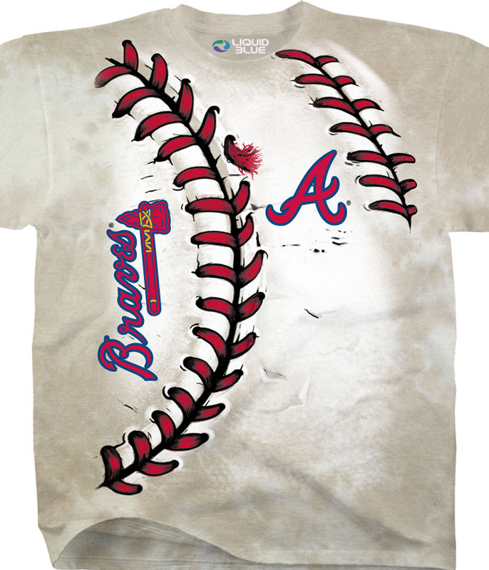 MLB Atlanta Braves Youth Hardball Tie-Dye T-Shirt Tee Liquid Blue