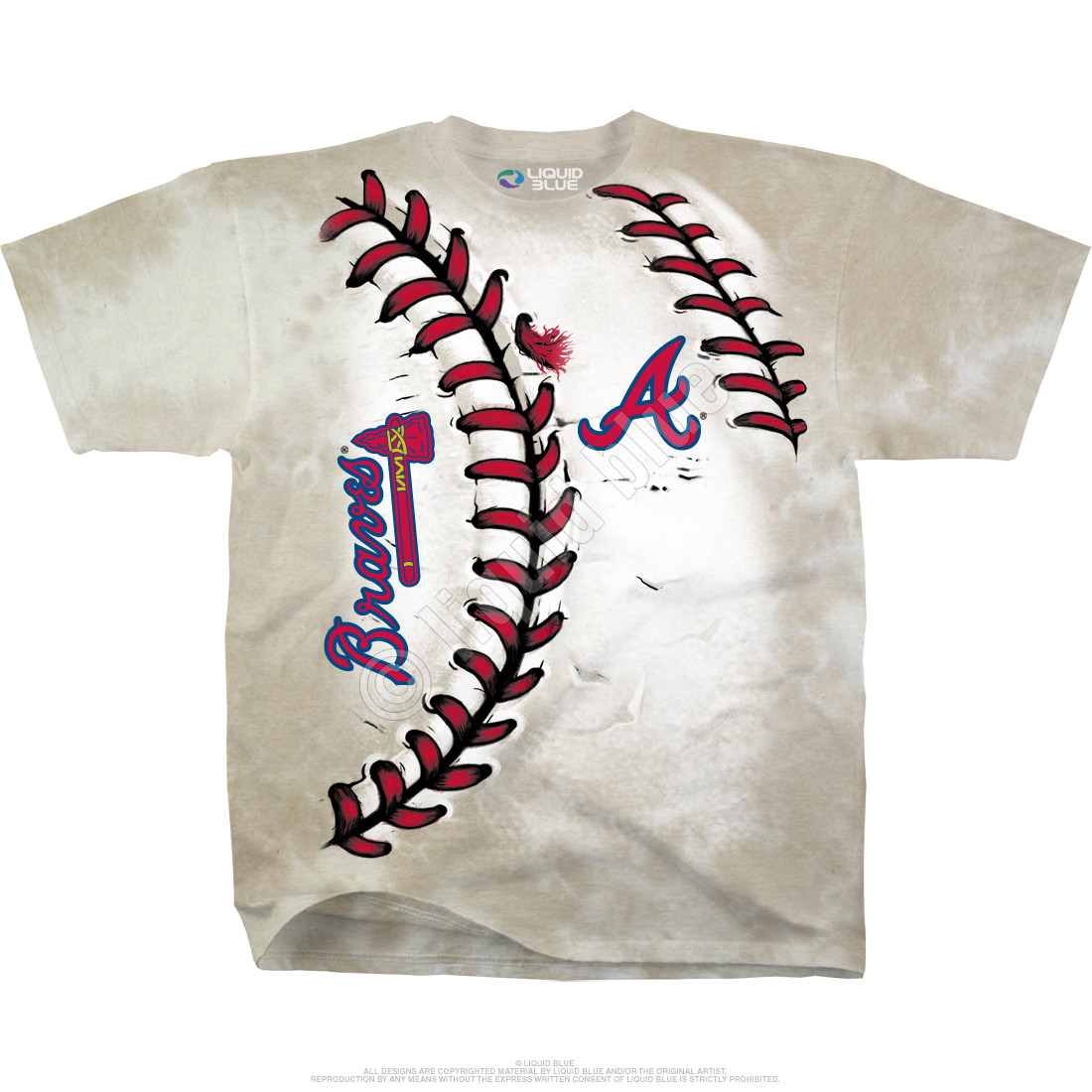 Atlanta Braves Youth Hardball Tie-Dye T-Shirt