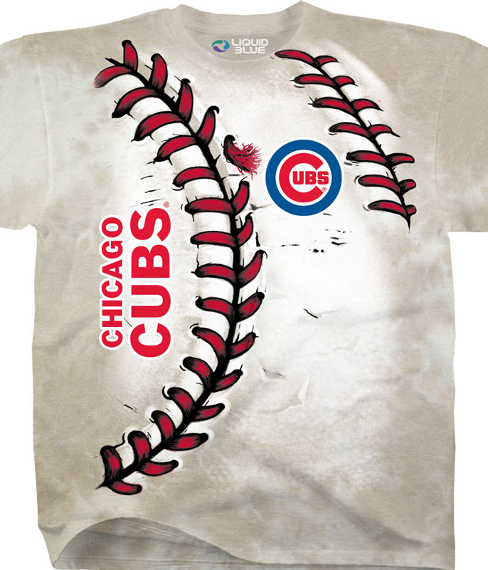 MLB Chicago Cubs Youth Hardball Tie-Dye T-Shirt Tee Liquid Blue