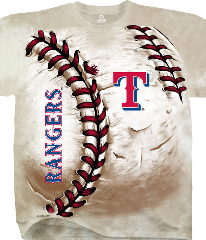 MLB Texas Rangers Hardball Tie-Dye T-Shirt Tee Liquid Blue