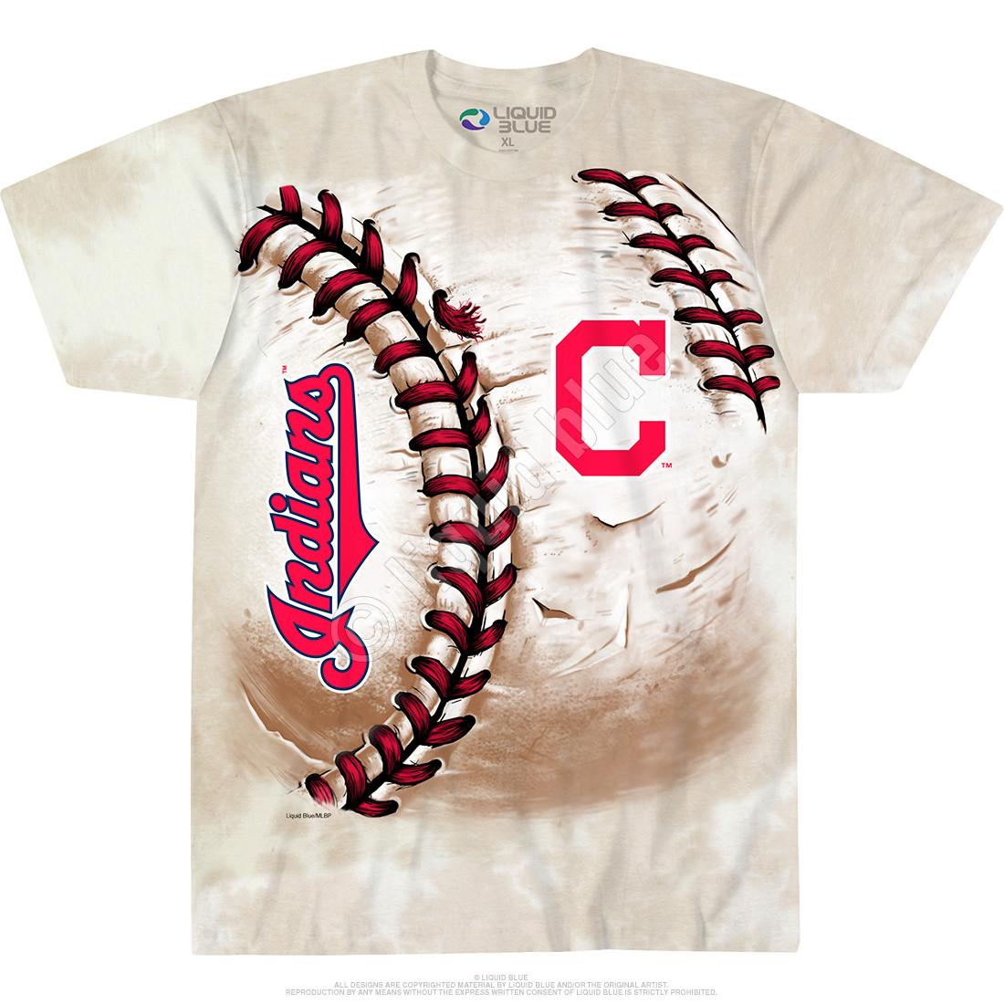 Cleveland Indians Hardball Tie-Dye T-Shirt