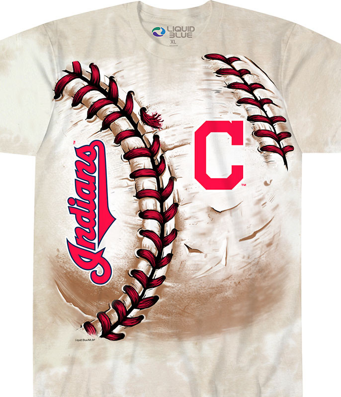 CLEVELAND INDIANS HARDBALL TIE-DYE T-SHIRT