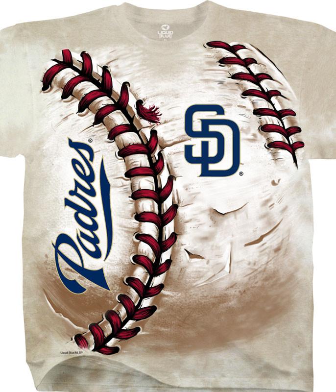 MLB San Diego Padres Hardball Tie-Dye T-Shirt Tee Liquid Blue