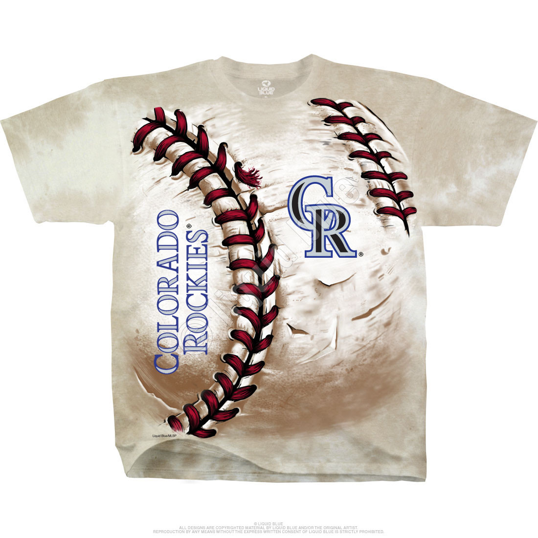 Colorado Rockies Hardball Tie-Dye T-Shirt