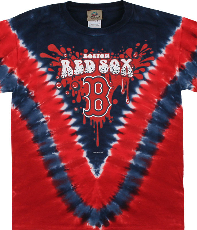 Mlb Boston Red Sox Youth Throwback Tie Dye T Shirt Tee