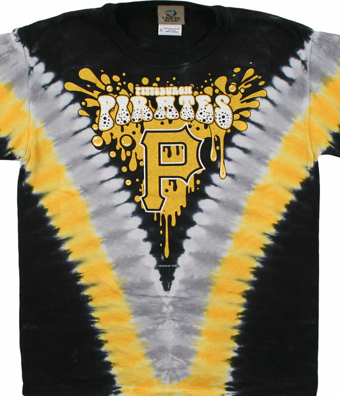 PITTSBURGH PIRATES YOUTH THROWBACK TIE-DYE T-SHIRT