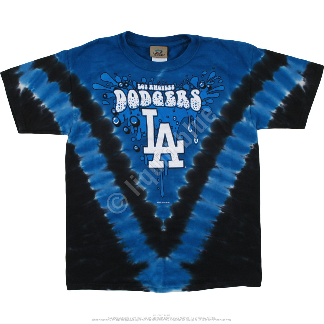 Los Angeles Dodgers Youth Throwback Tie-Dye T-Shirt