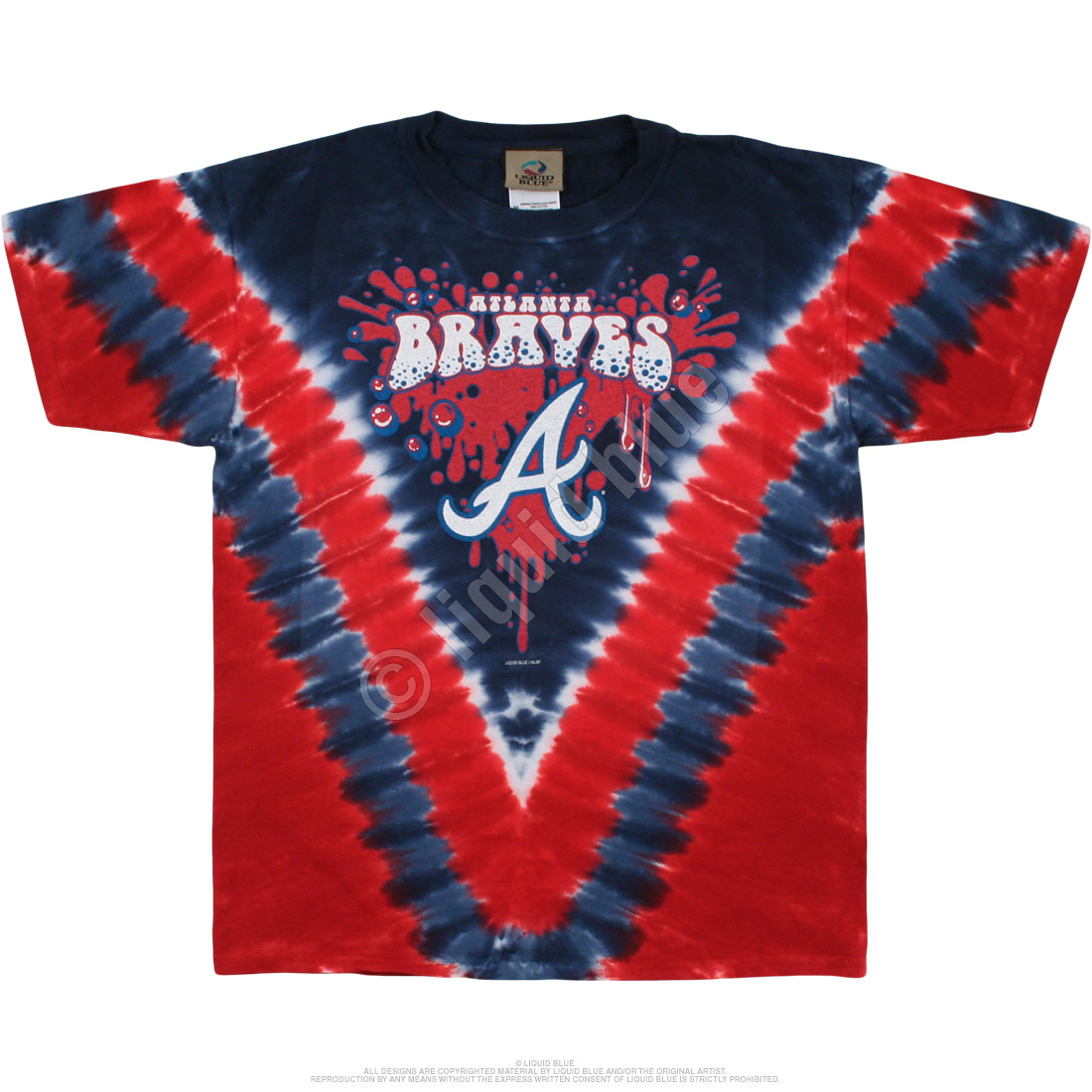 Atlanta Braves Youth Throwback Tie-Dye T-Shirt
