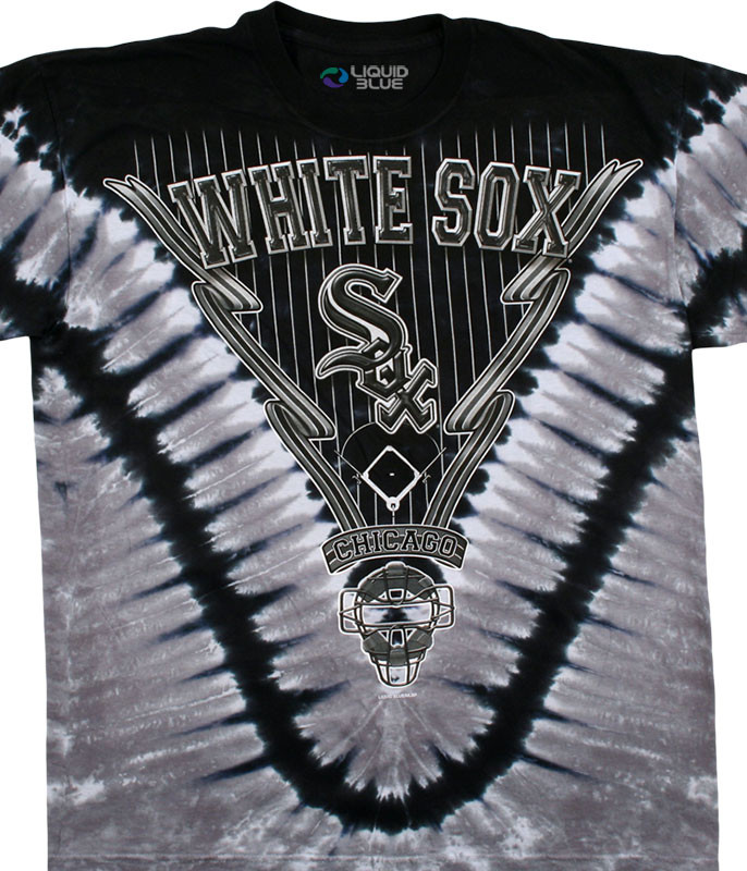 MLB Chicago White Sox V Tie-Dye T-Shirt Tee Liquid Blue
