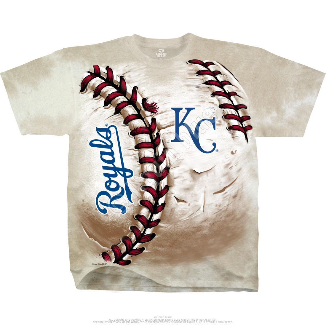 Kansas City Royals Hardball Tie-Dye T-Shirt