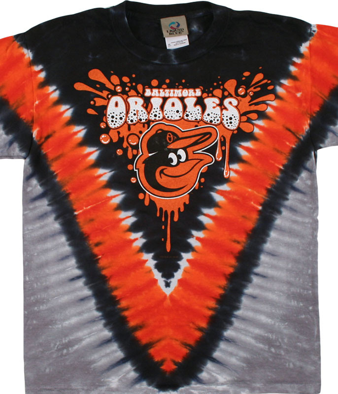 BALTIMORE ORIOLES YOUTH THROWBACK TIE-DYE T-SHIRT