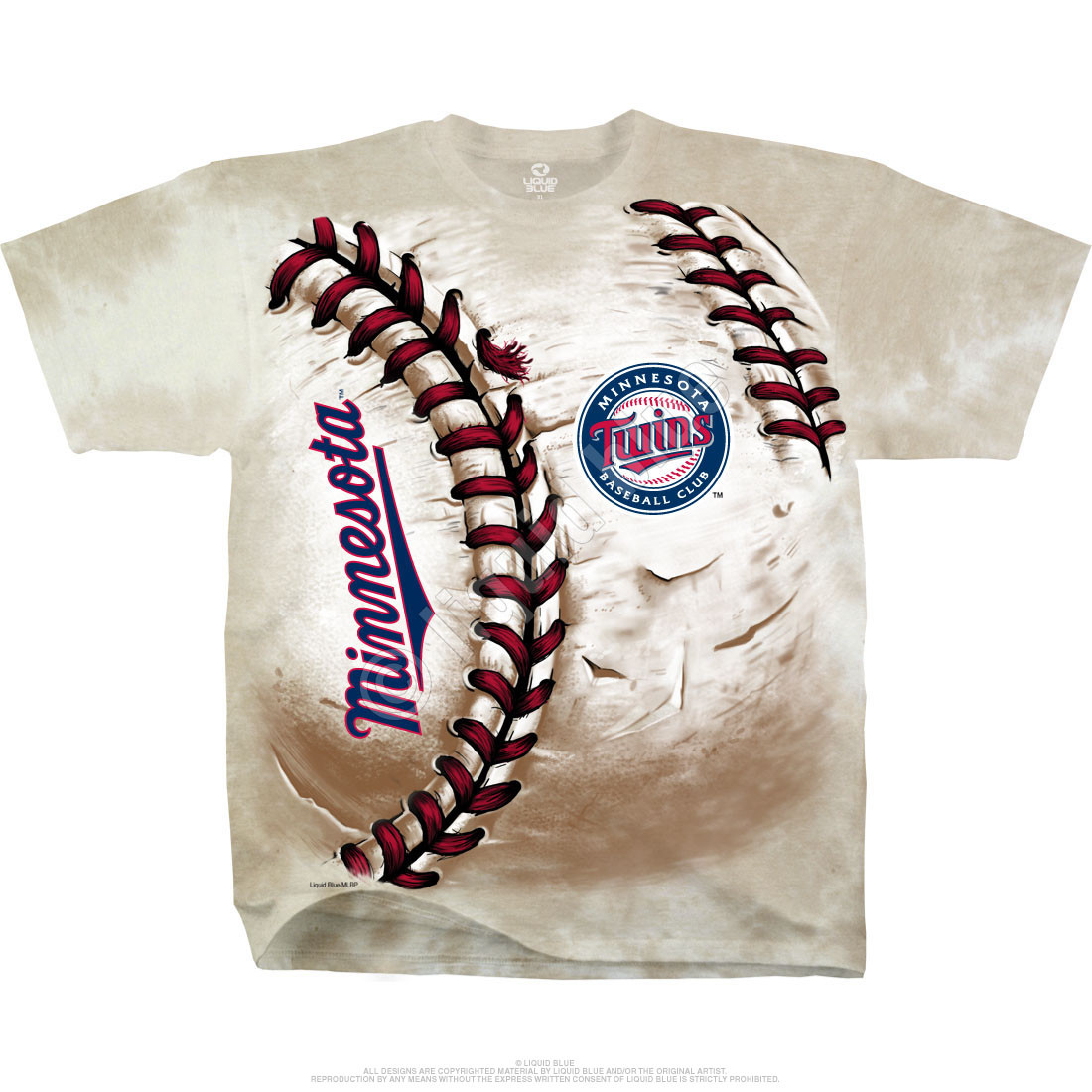 Minnesota Twins Hardball Tie-Dye T-Shirt
