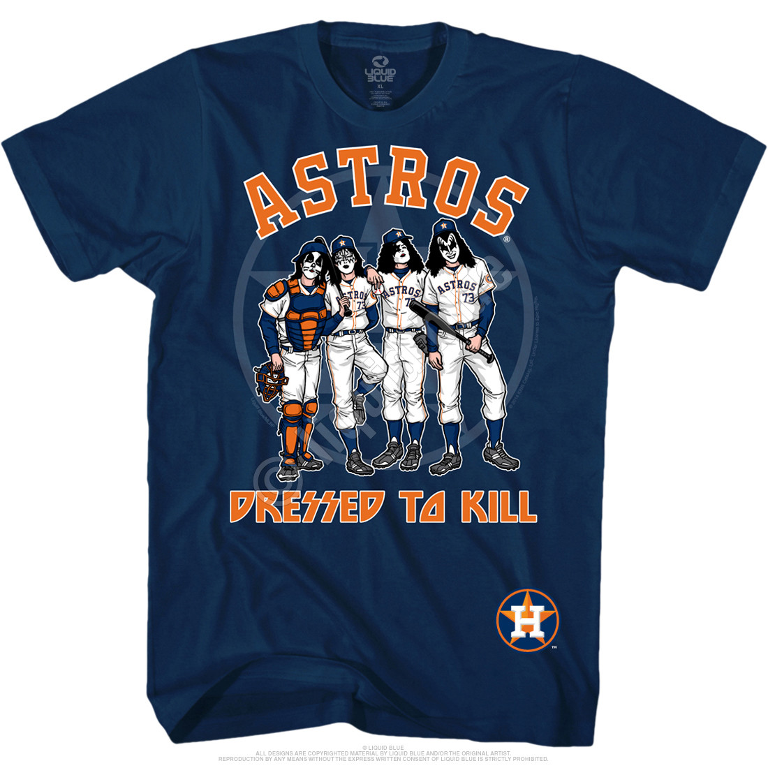 meet 1dd6f 4f0e6 Houston Astros Dressed to Kill Navy T-Shirt