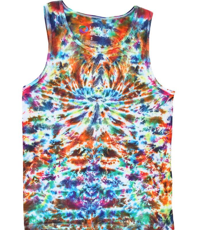 Crazy Krinkle Unprinted Tie-Dye Tank Top T-Shirt