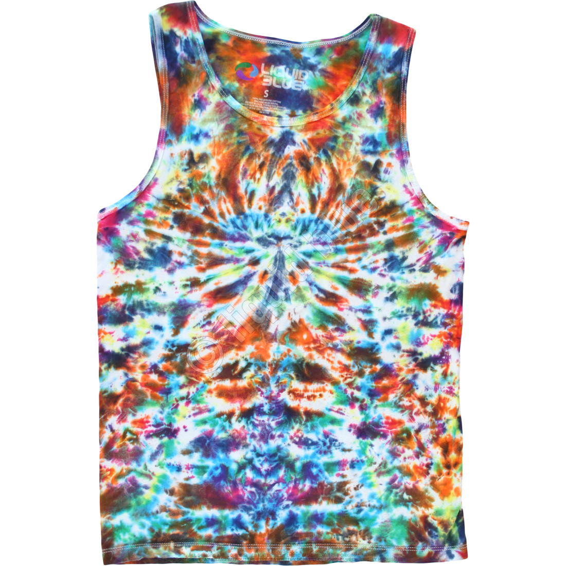 046ab06e6250e Crazy Krinkle Unprinted Tie-Dye Tank Top T-Shirt Tee Liquid Blue