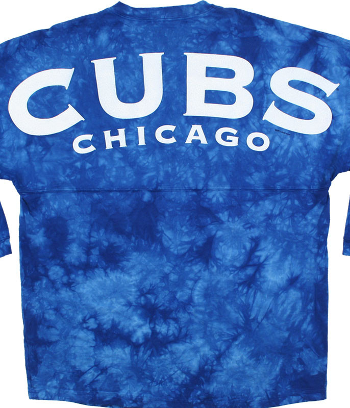 MLB Chicago Cubs Inside the Park Tie-Dye Boyfriend Jersey Liquid Blue