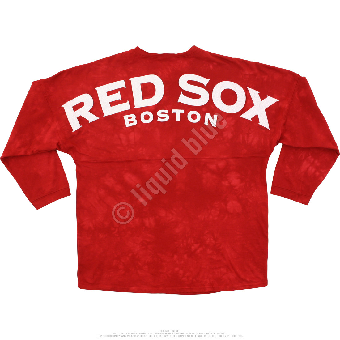 Boston Red Sox Inside the Park Tie-Dye Boyfriend Jersey