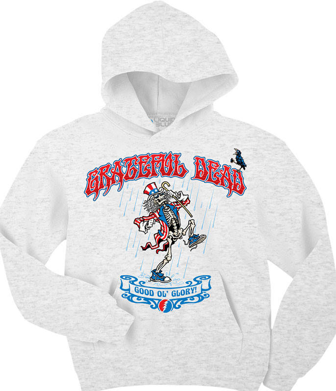 Grateful Dead Good 'Ol Glory Custom Hoodie Liquid Blue