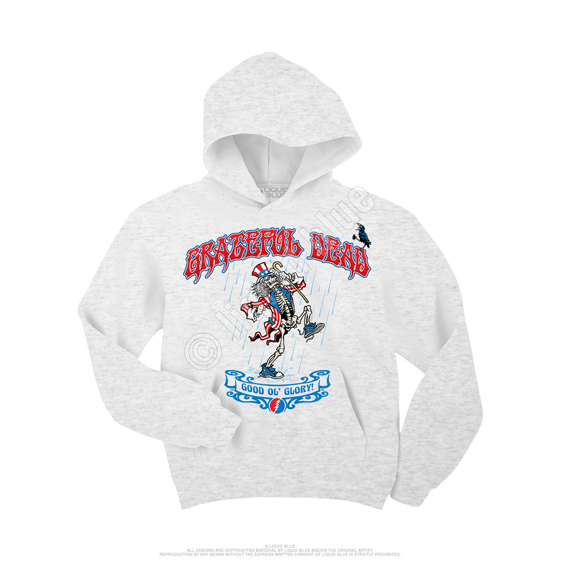 2a982c643c4 Grateful Dead Good  Ol Glory Custom Hoodie Liquid Blue