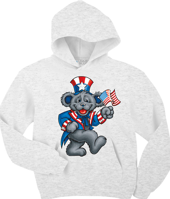 Grateful Dead Wave That Flag Custom Hoodie Liquid Blue