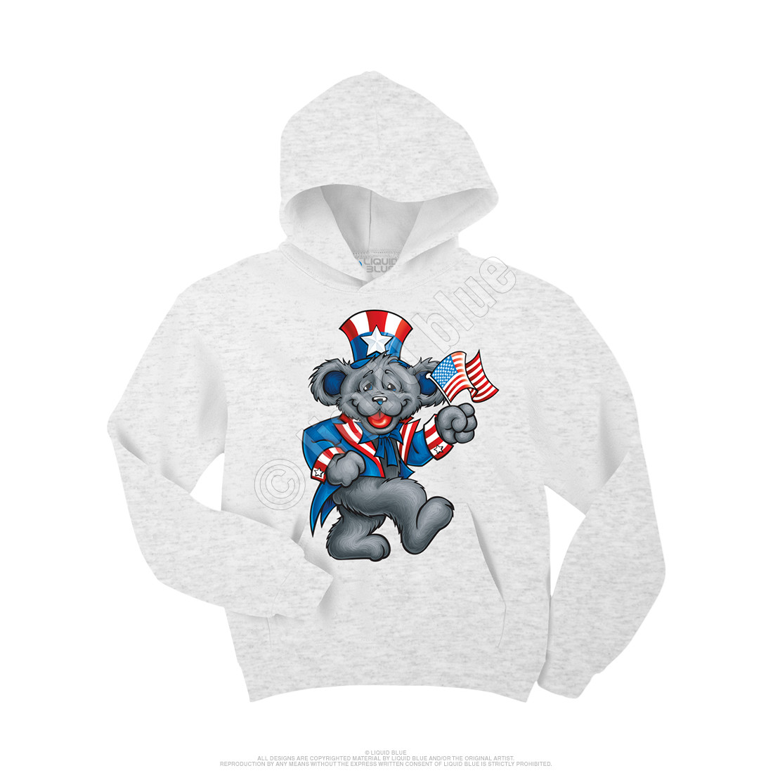 9b6f60b790c Grateful Dead Wave That Flag Custom Hoodie Liquid Blue