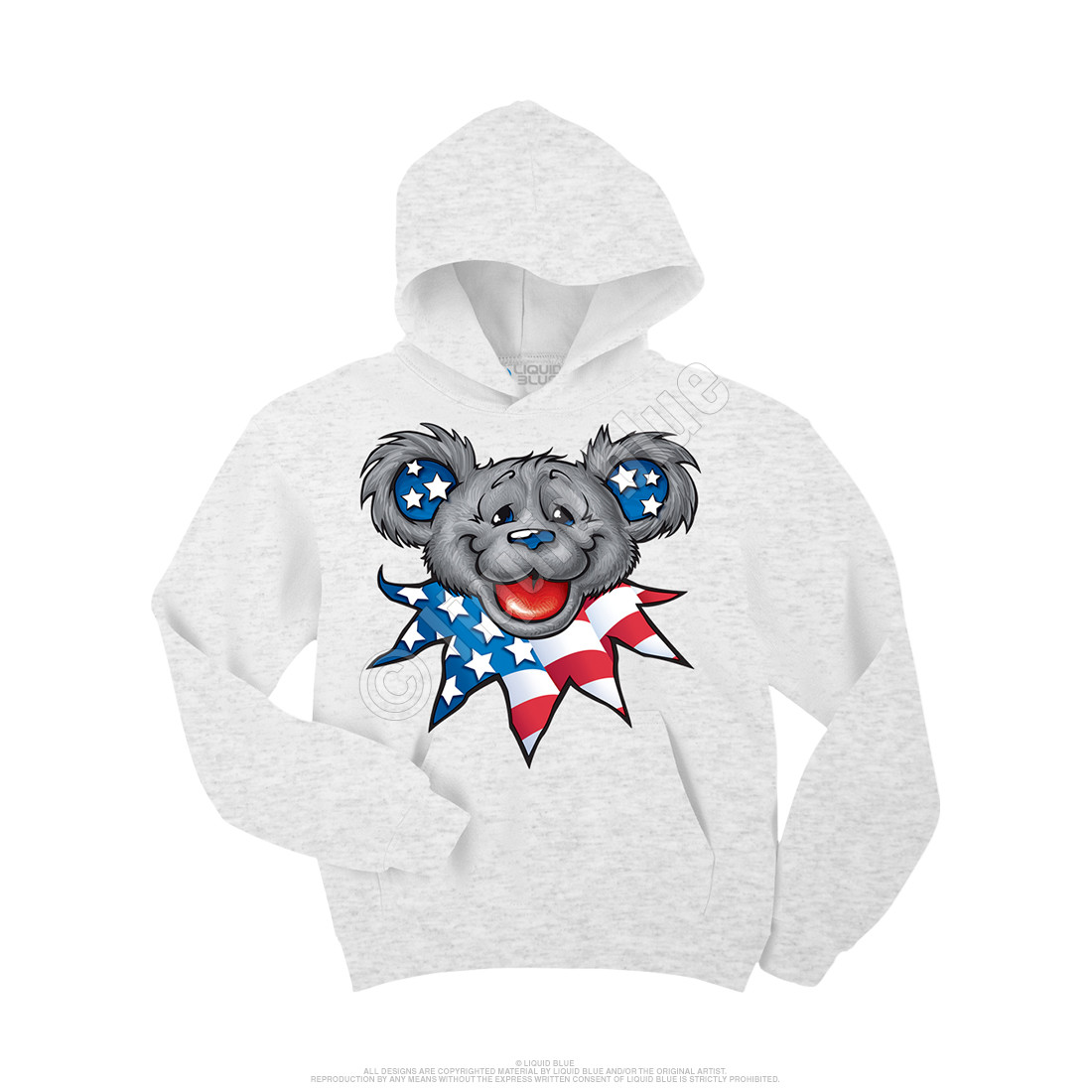 Patriot Bear Head Custom Hoodie