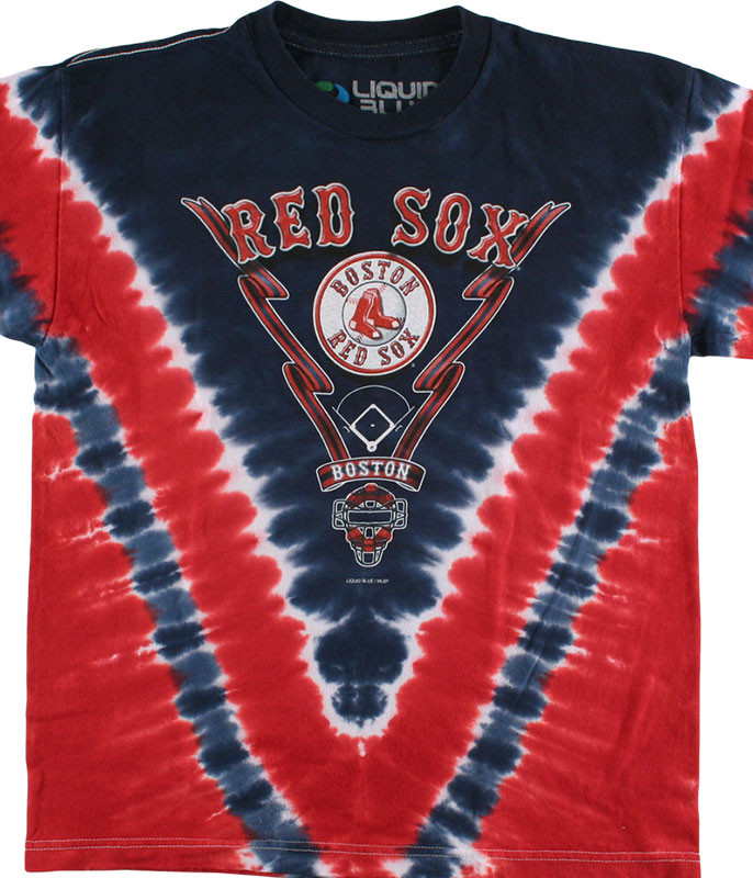 MLB Boston Red Sox Youth Tie-Dye T-Shirt Tee Liquid Blue
