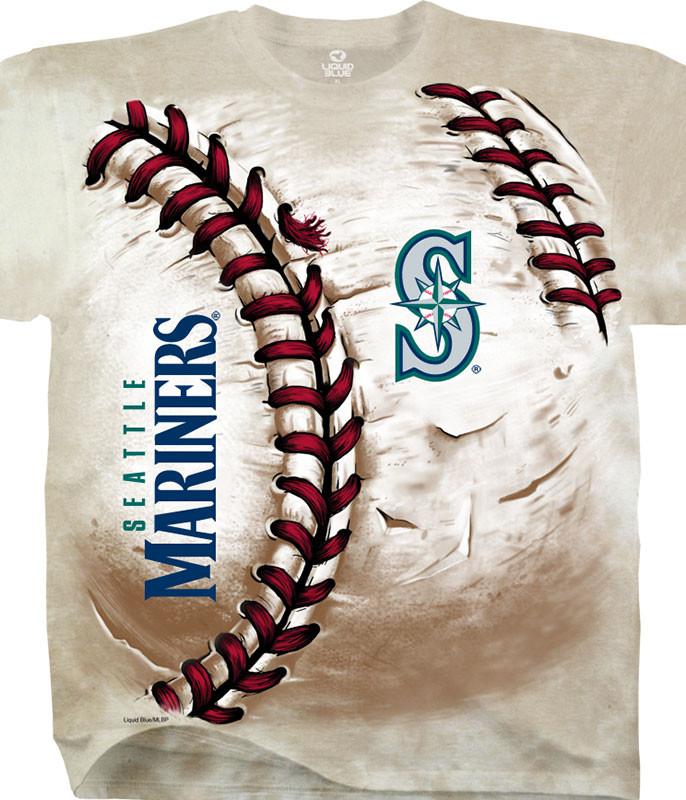 MLB Seattle Mariners Hardball Tie-Dye T-Shirt Tee Liquid Blue