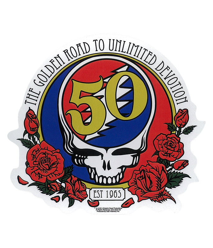 Grateful Dead GD 50th Anniversary Sticker