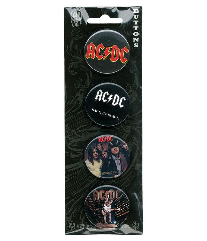 AC/DC Album Cover Pin Set