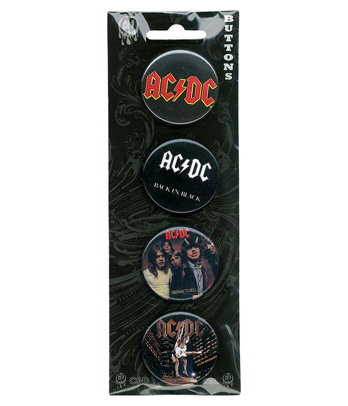 AC/DC Album Cover Pin Set
