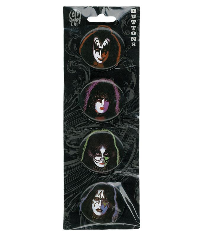 KISS Four Faces Pin Set