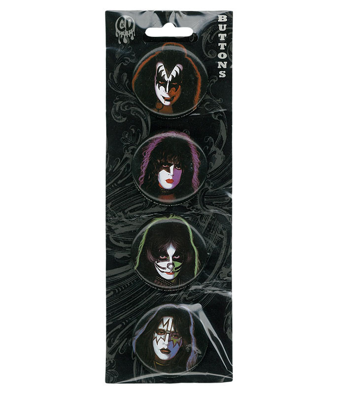 KISS Four Faces Pin Set