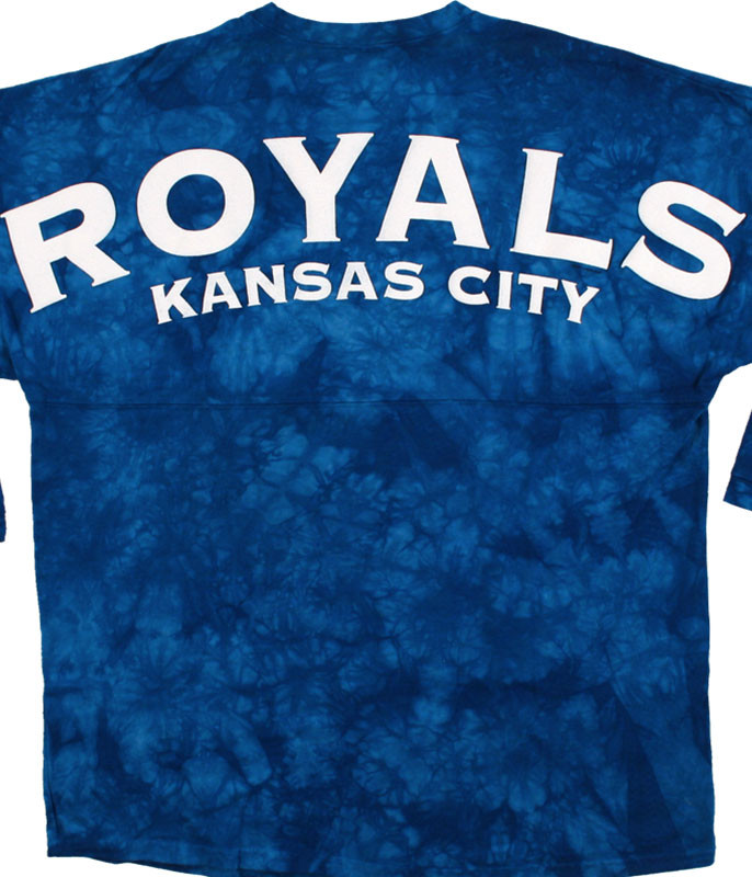 MLB Kansas City Royals Inside the Park Tie-Dye Boyfriend Jersey Liquid Blue