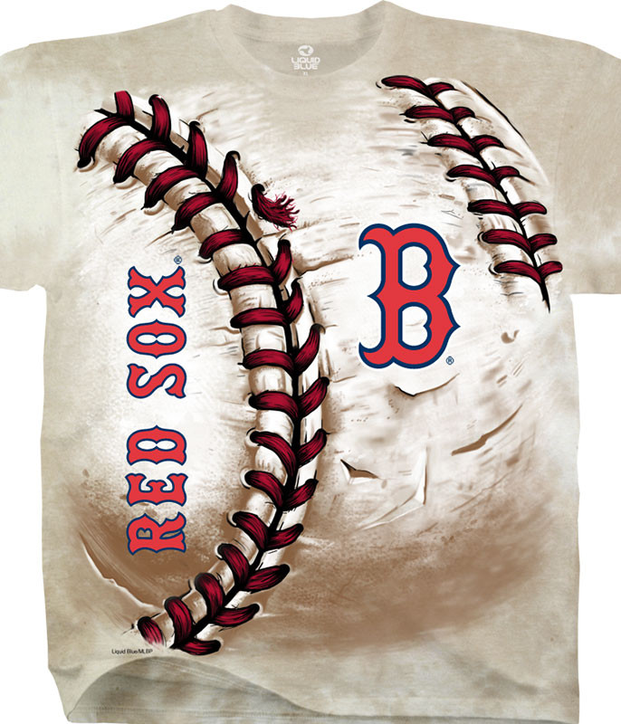 MLB Boston Red Sox Hardball Tie-Dye T-Shirt Tee Liquid Blue
