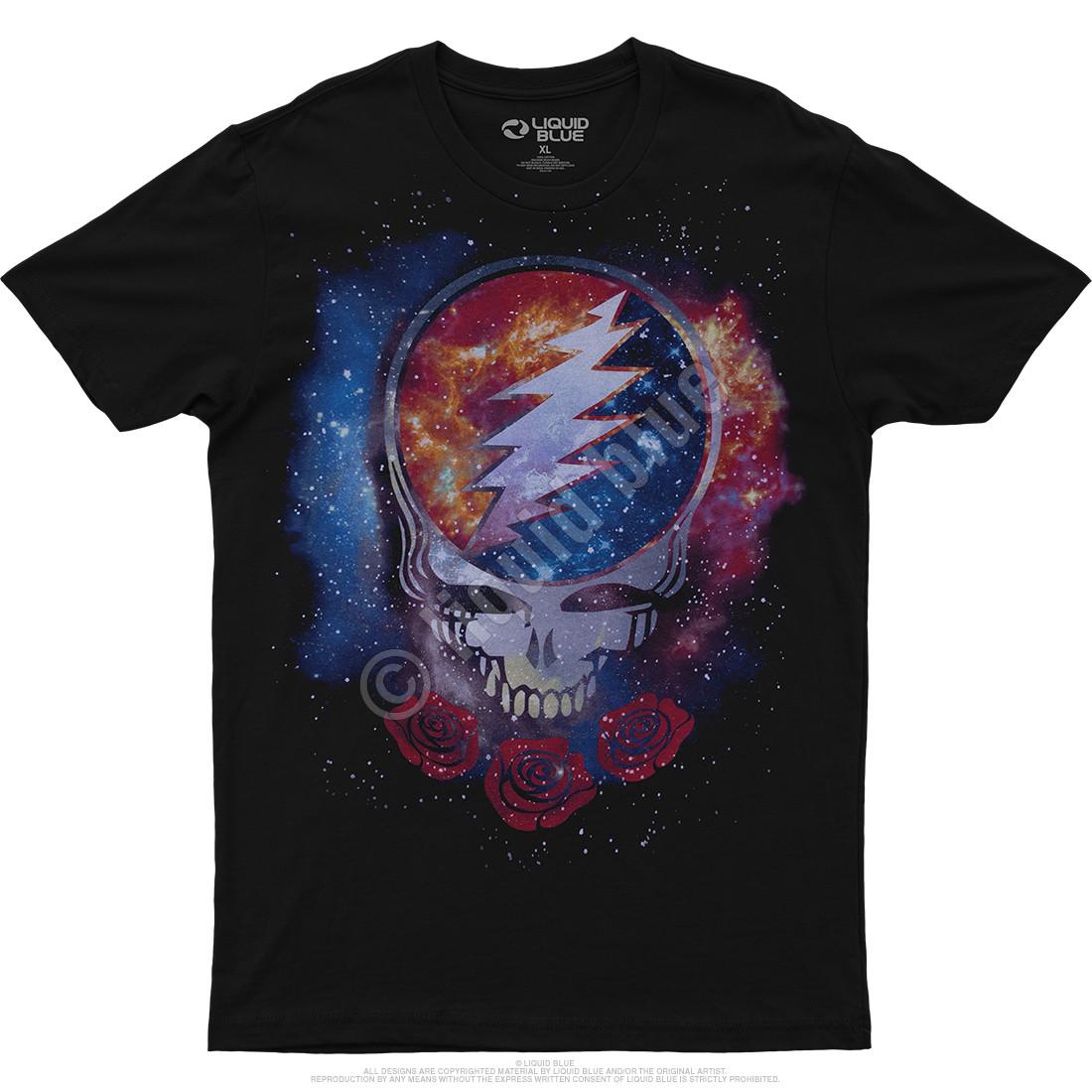 Cosmic Stealie Black Athletic T-Shirt