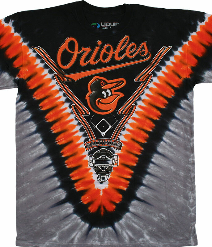 Baltimore Orioles V Tie-Dye T-Shirt