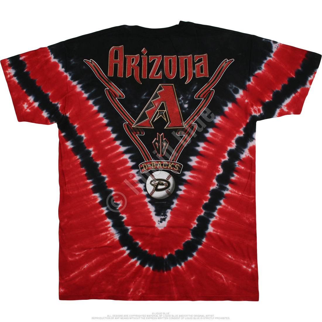 Arizona Diamondbacks V Tie-Dye T-Shirt