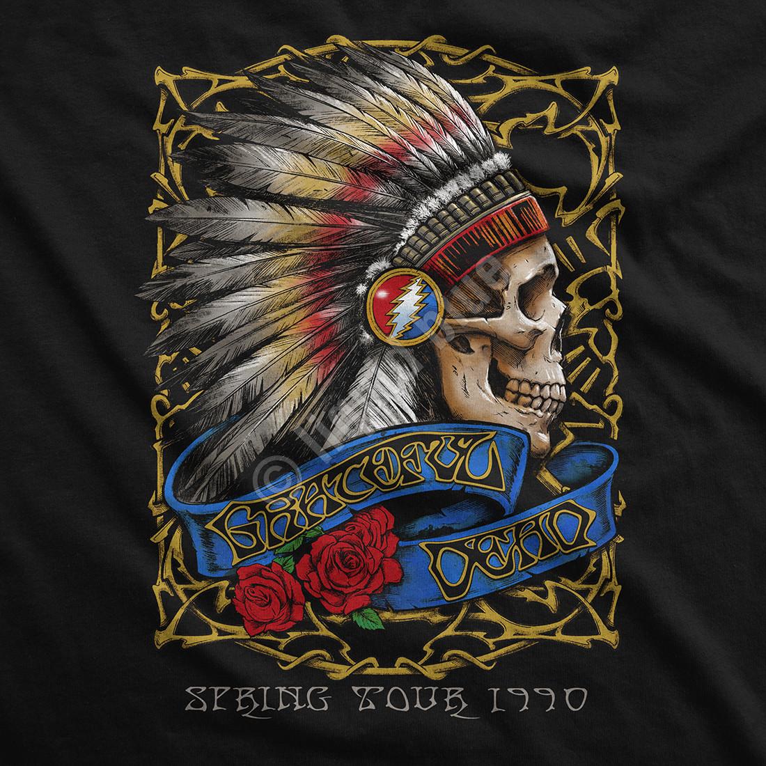 Spring Tour '90 Black Long Sleeve T-Shirt